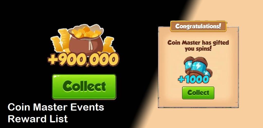 Coin Master Events Reward List